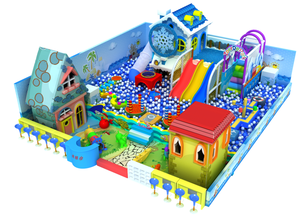 Used indoor playground equipment sale with slide