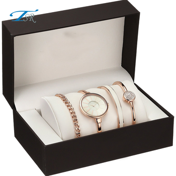 Ladies fashion Wholesale watch box gift set for women for wedding