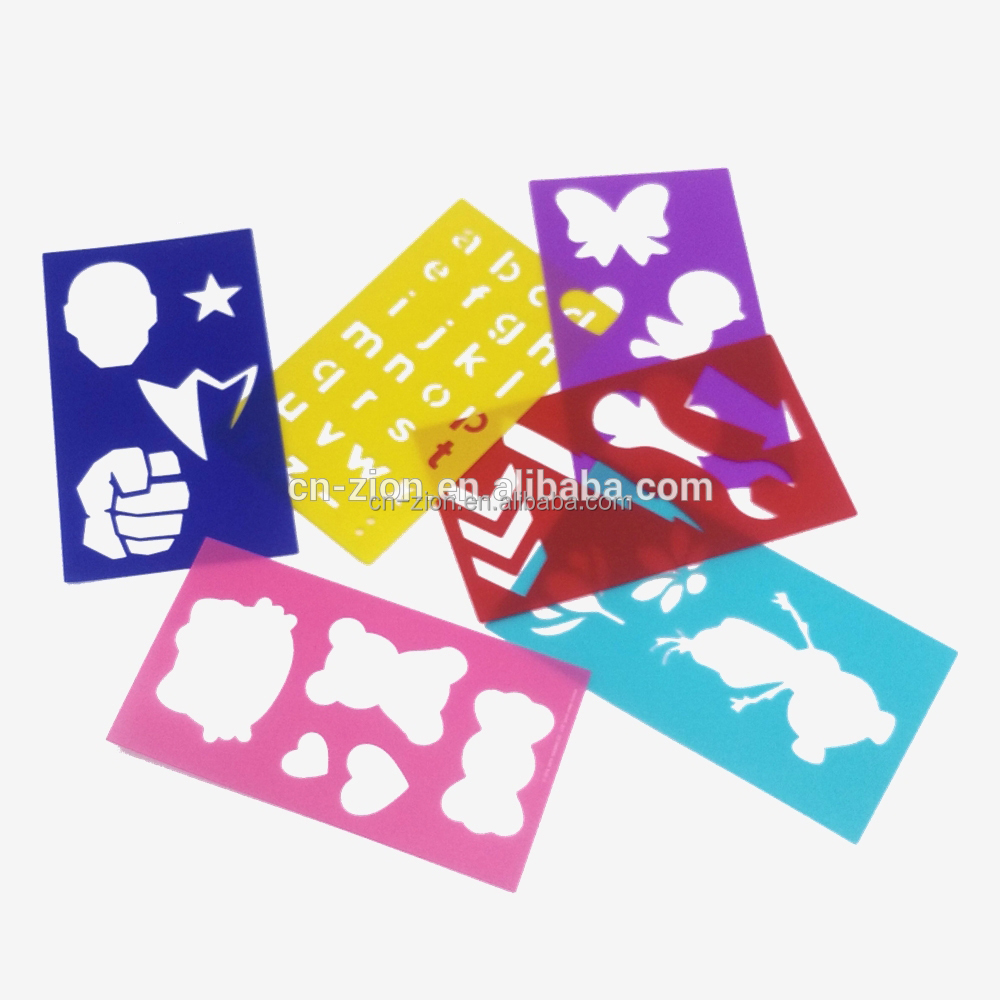 Customzied Kids childhood PP drawing stencil sets