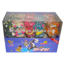 Dafa animal shaped gummy lollipop marshmallow lollipop