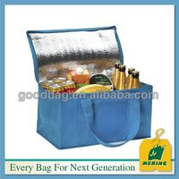 Guangzhou manufacture fresh fruit non woven EPE aluminium foil cooler bag, cans juice thermal cold bag