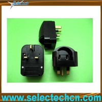 Earthed Schuko to uk 13 amp bs1363 square to round adapter SE-SCP3