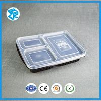 High durable PP material plastic lunch box fast food packaging case compartment bento container