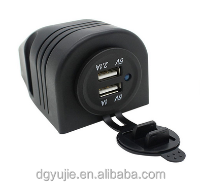 12-24V Motorcycle Dual USB Charger Socket Power