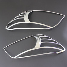 ABS Chrome Rear headlight Lamp Cover For 2006-2014 RAV4 Rear light cover Tail lamp trims Accessories