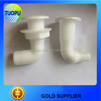 China marine white thru-hull connector,plastic thru hull for marine thru hull connector