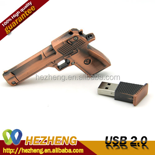 16GB Novely Metal Gun USB Flash Memory
