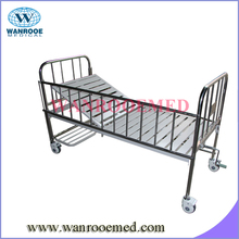 BAM103C Stainless Steel Infant Hospital Bed with shoe shelf