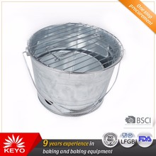 Quality Guaranteed 10 Inch Portable Bbq Charcoal galvanized barbecue bucket grill