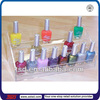 TSD-A003 Custom 3 tiers acrylic nail polish display rack,clear acrylic cosmetic display stand,clear acrylic table top display
