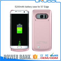 5200mAh Rechargeable External Battery Backup Charger Power Bank Phone Case for S7 edge phone