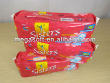 Professional wholesale high quality waterproof ultra comfort girl disposable best sanitary pad / sanitary