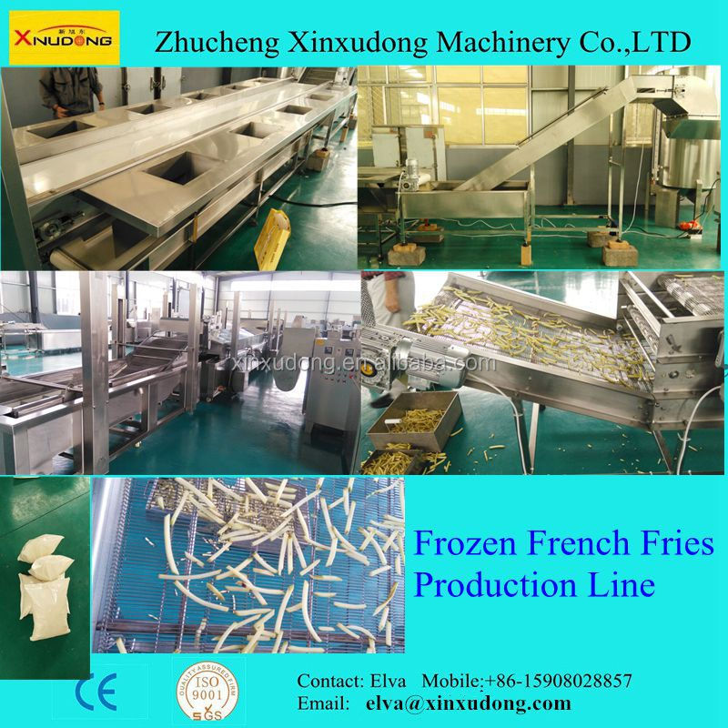 Mcdonald's french fries production line/frozen french fries making machine/automatic french fries processing line