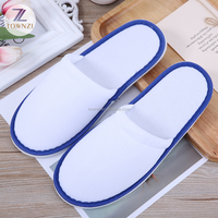 2019 New Style Luxury Ladies Flat Slipper White Color Terry Hotel Bathroom Slippers Men Indoor Soft Slippers