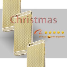 For iPhone 6 gold back panel, gold plated housing for iPhone 6 plus gold back cover