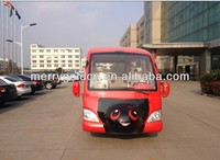 Cute 23 seats city sightseeing bus electric tourist/vehicles with rain curtain for sale