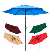 High Quality Windproof Crank Tilt Shade Outdoor Beach Umbrella