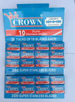 CROWN Super Stainless Double Edge Shaving Razor Blades , Razor Blades, Safety Shaving Razor Blades One Pack in ( 200 Blades )