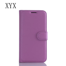 for ZTE Blade AF3 back case cover litchi material pu leather custom android mobile phone case