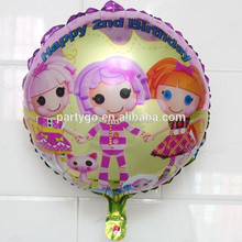 18 inch Lala dolls girl angel foil balloons for happy birthday party decorations