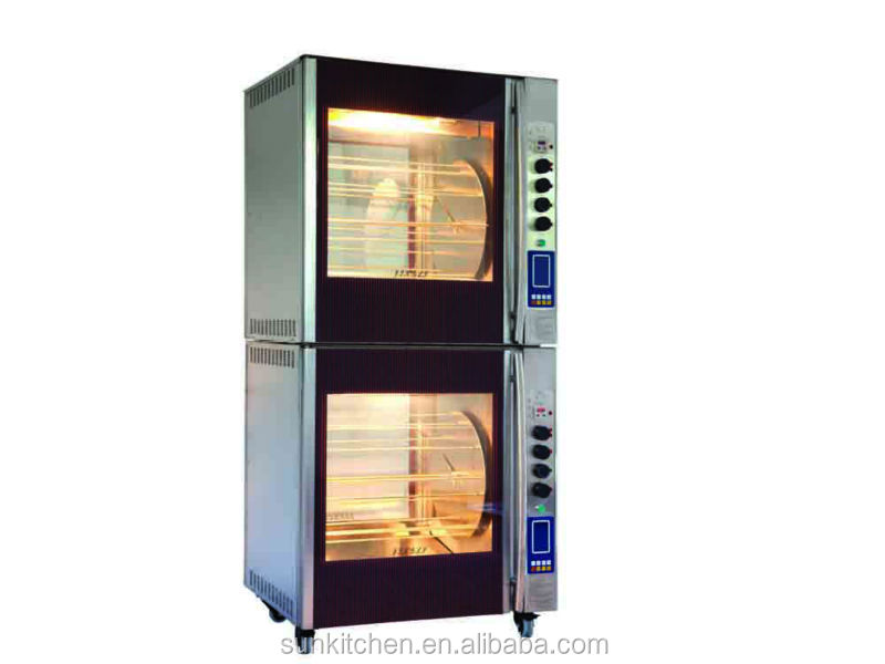 Industrial digital chicken roaster oven for restaurant use.