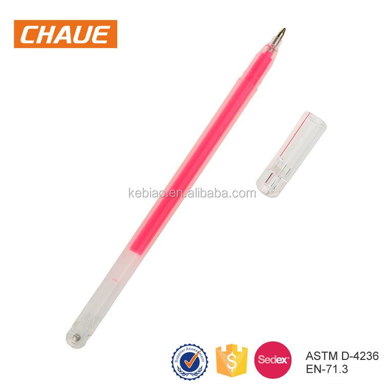 Wholesale customized promotional neon gel pen packs