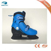 Blue children cool adjustable ice hockey skating shoes