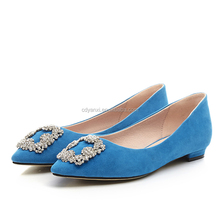 Wholesale Sexy Ladies Pointed Toes Flat Pumps Shoes Elegant Women Pump Simple Shoes