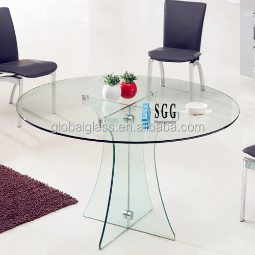 excellent quality round glass top pedestal dining table