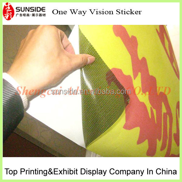 one way vision perforated vinyl/perforated vinyl film one way vision