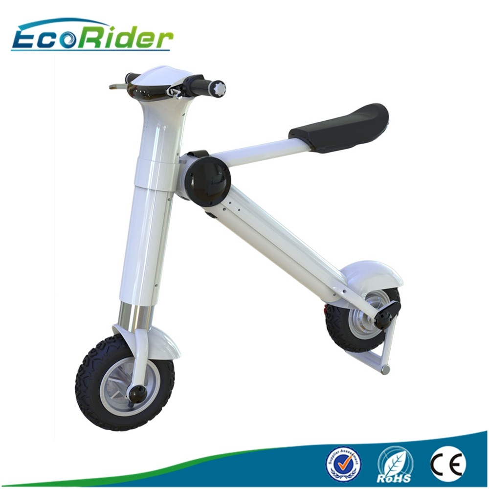 350w brushless folding electric scooter e6 3 for adults for Folding motorized scooter for adults