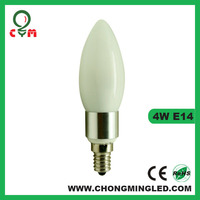 UL CUL listed 0-10V dimmable 4W E12 (Candelabra) led candle bulb