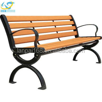 Antique style outdoor wooden long bench chair