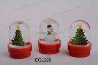 christmas gift mini water dome snow globe