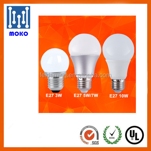 High lumens 7w e27 led bulb 6000k 180 Degree led lighting bulb