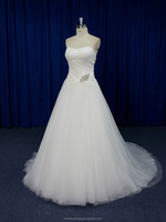 New design strapless crystal bling alibaba wedding dress 2016 online