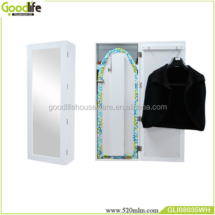 Goodlife 2018 wall mounted wooden ironing board in cabinet wholesale