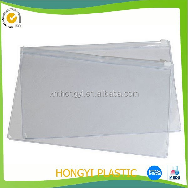 customized plastic zip pouch, pvc zipper bag with priting