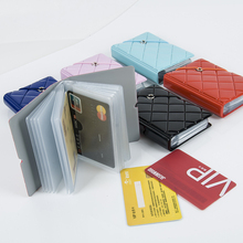 Custom-made colorful plastic credit card holder with sleeve