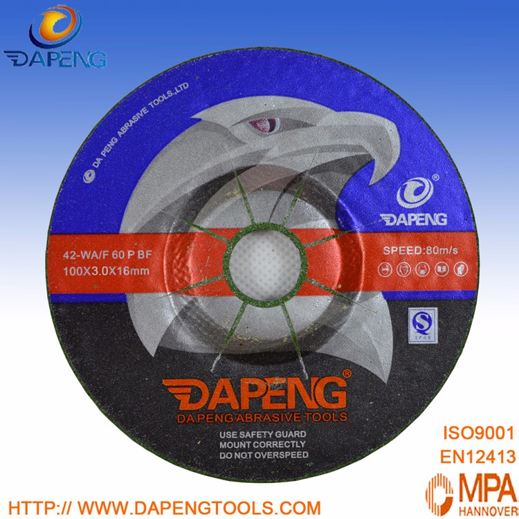 hot sale 100x2.5x16mm resin bonding cutting and grinding disc