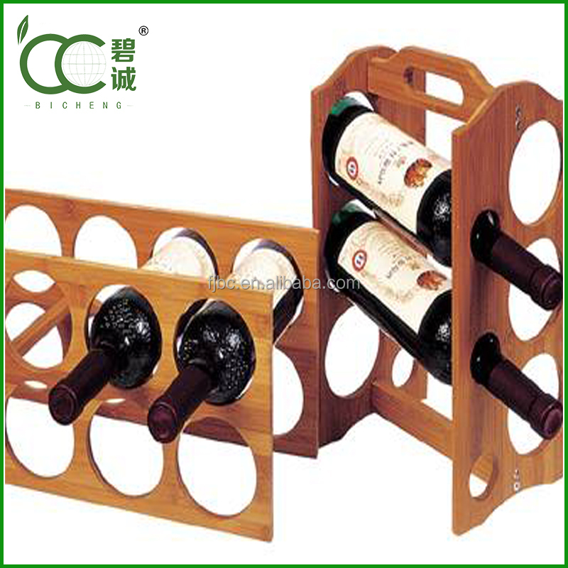 Beautiful Bamboo Wine Rack In The Kitchen