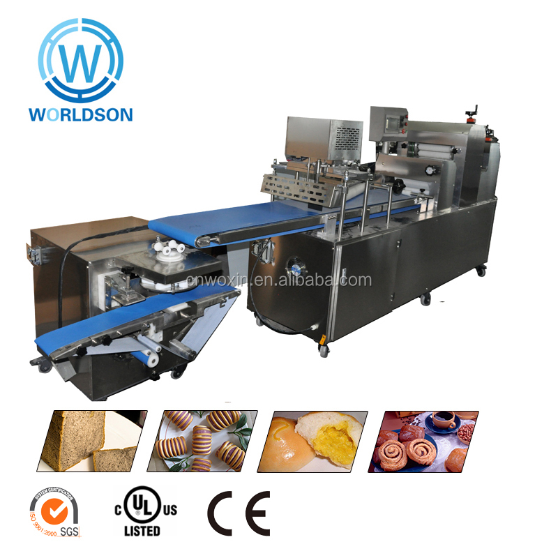 commercial puff pastry dough automatic production forming making bread machine