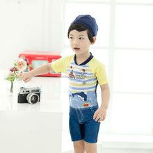 2015 fashion cute swimsuit for children lovely boy swimming set lovely boy swimming set lovely boy swimming set