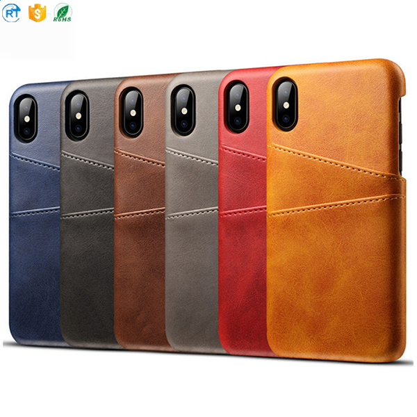 Guangzhou Factory Pu PC cell phone cover for iPhone 7 plus Leather case