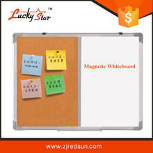 Aluminium frame ABS corners combination half whiteboard half cork board magnetic memo board in bulletin board