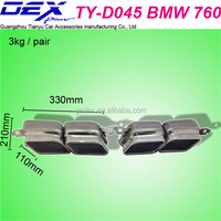 auto spare tuning car racing exhaust muffler tip for BMW 760