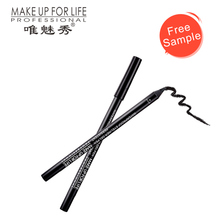 OEM private label makeup black eye liner pencil waterproof longlasting liquid gel eyeliner stamp