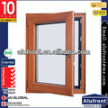 Aluminium with Wood Cladding Hinges Windows with Germany Hardware