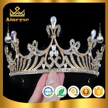 Wedding Bridal Bridesmaid Pregnant GOLD Tiaras for beauty miss world