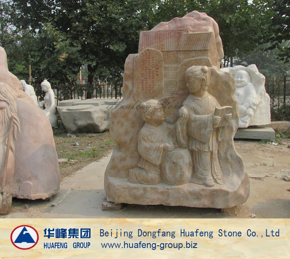 Garden decoration marble stone statue of children